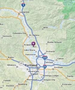 Map to Northwest Organic Farms in Ridgefield WA